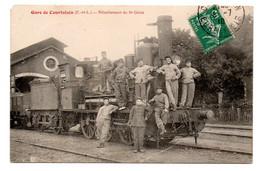28  COURTALAIN  -  Gare De Courtalain  -  Détachement Du 5è Génie - Courtalain