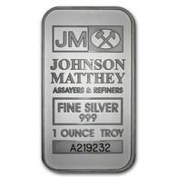 BARRE JM Johnson Matthey FINE SILVER 999 / 1 Oz / 1 ONCE TROY 32g ENVIRON NEUVE - Ohne Zuordnung