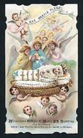 Santino/holycard: MARIA SS. BAMBINA - Milano - E- PR - Cromolitografia  - Mm. 67 X 117 - Religione & Esoterismo