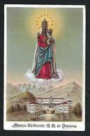 Santino/holycard: MARIA VERGINE SS. D'OROPA - E - PR  - Mm. 70 X 105 - Religione & Esoterismo