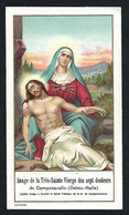 Santino/holycard: MARIA SS. DEI SETTE DOLORI - Campocavallo - E- PR - Cromolito - Mm. 70 X 122 - Religione & Esoterismo
