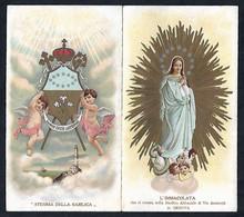 Santino/holycard: L'IMMACOLATA - Genova - E- AP - Cromolitografia - Mm. 70 X 125 - Religione & Esoterismo