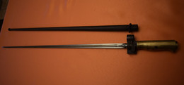 BAÏONNETTE ROSALIE MOD 15, POIGNÉE LAITON, 14/18 - Knives/Swords