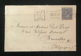 Australia 1934 De Sidney Vers Bruxelles Avec Correspondance - Covers & Documents