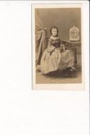 CDV Photo De Femme Fille Noblesse  Cage à Oiseaux ( Photographe DISDERI 65 Rue De Siam à BREST 29  ) - Antiche (ante 1900)
