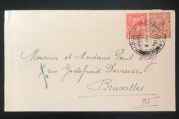 Grande Bretagne 1934 Cachet Paquebot Aden Vers Bruxelles - Covers & Documents
