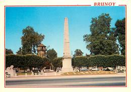 91 - Brunoy - Place De La Pyramide - Automobiles - CPM - Voir Scans Recto-Verso - Brunoy