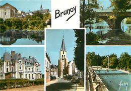 91 - Brunoy - Multivues - Piscine - Mention Photographie Véritable - CPSM Grand Format - Voir Scans Recto-Verso - Brunoy
