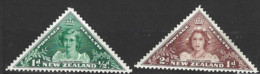 New Zealand  1943  SG  636-7  Health Stamps  Mounted Mint - Unused Stamps