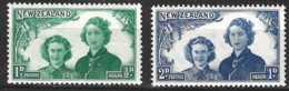New Zealand 1943  SG 663-4  Health Stamps  Mounted Mint - Unused Stamps