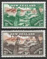 New Zealand 1946  SG 678-9  Health Stamps Mounted Mint - Unused Stamps