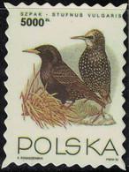 Pologne Timbre Fictif Autocollant Oiseau Sturnus Vulgaris Étourneau Sansonnet Scrapbooking - Scrapbooking