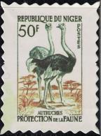 Niger Timbre Fictif Autocollant Oiseau Struthio Camelus Autruche Scrapbooking - Scrapbooking