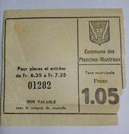 TICKET . SUISSE . PLANCHE MONTREUX - Tickets D'entrée