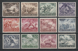 GERMANY REICH WWII 1943 Mi 831-842 MNH Heroes Memorial Day - Nuevos