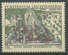 Liechtenstein 1996 1000 Jahre Österreich Stadt Feldkirch 1137 Postfrisch - Ungebraucht
