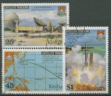 Kiribati 1980 Start Eines Nachrichtensatelliten 346/48 Gestempelt - Kiribati (1979-...)