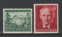 GERMANY REICH WWII 1943 Mi 855-856 MNH Peter Rosseger - Unused Stamps