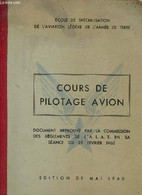 Cours De Pilotage Avion. Mai 1960 - Ecole De Spécialisation De L'aviation Légère - 1960 - AeroAirplanes