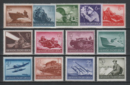 GERMANY REICH WWII 1944 Mi 873-885 MNH Heroes Memorial Day - Unused Stamps