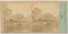 Stéréo Furne & Tournier Circa 1860. De Paris à Boulogne. N°18. Creil. Ruines Du Château De Charles VI. État ! - Lugares