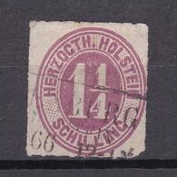 Schleswig-Holstein - 1866 - Michel Nr. 22 R3 - Gestempelt - 40 Euro - Schleswig-Holstein