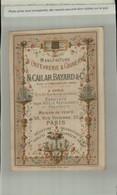 Chromo PUBLICITE MANUFACTURE DE COUVERTS & D'ORFEVRERIE  N. CAILLARD . BAYARD & Cie Paris -1878 ( 2021 Juillet CHR 411 ) - Altri