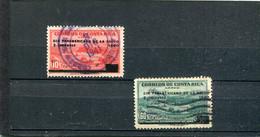 Costa Rica 1940 Yt 44A 44E Timbres Pour La Poste Aérienne - Costa Rica