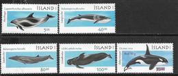 Iceland  2001   Sc#944-8  MNH  Sets  2016 Scott Value $9.05 - Balene