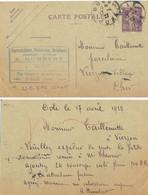 PORCELAINES, FAÏENCES, CRISTAUX A. HUMBERT DOLE JURA TàD 17-4-24 Sur ENTIER SEMEUSE 40 C. YT 236-CP1 137x88 - Standard Postcards & Stamped On Demand (before 1995)