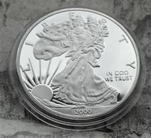 Pièce LIBERTY EAGLES ONE DOLLAR 2000 / 1 Oz TROY 31 G Argent Fine Silver Neuve - Sin Clasificación