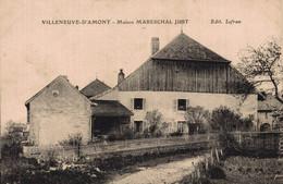 25 VILLENEUVE-D'AMONT    RARE  CPA    Maison Mareschal Just - Otros Municipios