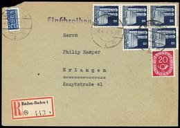 1948, Bizone, 79 Wg (5) U.a., Brief - Zone Anglo-Américaine