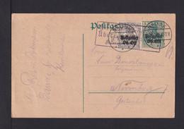 OBER OST - Überdruck-Ganzsache Mit Zufrankatur Ab BAUSK Nach Nürnberg - Occupation 1914-18