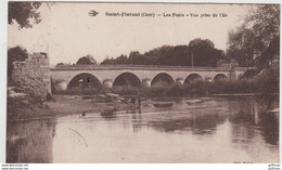 SAINT FLORENT SUR CHER LES PONTS VUE PRISE DE L'ILE 1931 TBE - Saint-Florent-sur-Cher