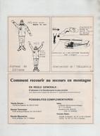 Secours En Montagne Hélicoptère PGHM Chamonix Bourg St Maurice Modane Bérarde  Briançon 1977 - Sin Clasificación