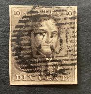 Epaulet OBP 1 - 10c Gestempeld P70 LE ROEULX - 1849 Epaulettes