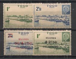 Togo - 1941-44 - N°Yv. 215 - 216 - 226 - 227 - Pétain - Neuf Luxe ** / MNH / Postfrisch - Nuevos