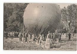 Très Rare CLC Le GONFLEMENT Du Ballon L' Hirondelle AERO CLUB Visite D' ALPHONSE XIII Roi D' ESPAGNE En 1905 ELD N376 - Balloons