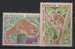 Madagascar - 1973 - N°Yv. 536 à 537 - Lémuriens - Neuf Luxe ** / MNH / Postfrisch - Mono