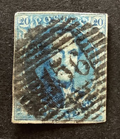 Medaillon OBP 7 - 20c Gestempeld P156 CHENEE - 1851-1857 Medaillen (6/8)