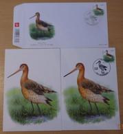 A.Buzin 3502 Grutto  FDC, Blanco En Gestempelde Te Grimbergen Spotprijs.......... - 1985-.. Vogels (Buzin)