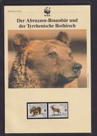 """1991 Italien WWF  """"Der Abruzzen-Braunbär U D Tyrrhenische Rothirsch""""  Komplettes Kapitel - Collections, Lots & Series"""
