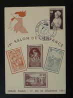 Carte Postcard Salon De L'enfance Avec Timbre Croix Rouge Paris 1951 - Cartas