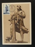 Carte Maximum Card Navigateur Explorateur Explorer Prince Albert Monaco 1952 - Maximum Cards