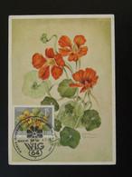 Carte Maximum Card Fleur Capucine Wien Garden Show Autriche Austria 1964 - Non Classificati