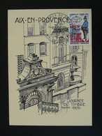 Carte Locale  Journée Du Timbre Aix En Provence 13 Bouches Du Rhone 1970 - Covers & Documents