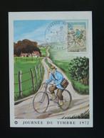 Carte Maximum Card Vélo Bicycle Cycling Facteur Journée Du Timbre Gap 05 Hautes Alpes 1972 - Radsport