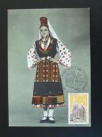 Carte Locale Postcard Costume De Bulgarie Bulgaria Folklore Fêtes De La Vigne Dijon 21 Cote D'Or Europa 1972 - Kostüme
