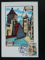 Carte Maximum Card Basilique Notre Dame Jumelage Franco Allemand Dole 39 Jura 1979 - Churches & Cathedrals